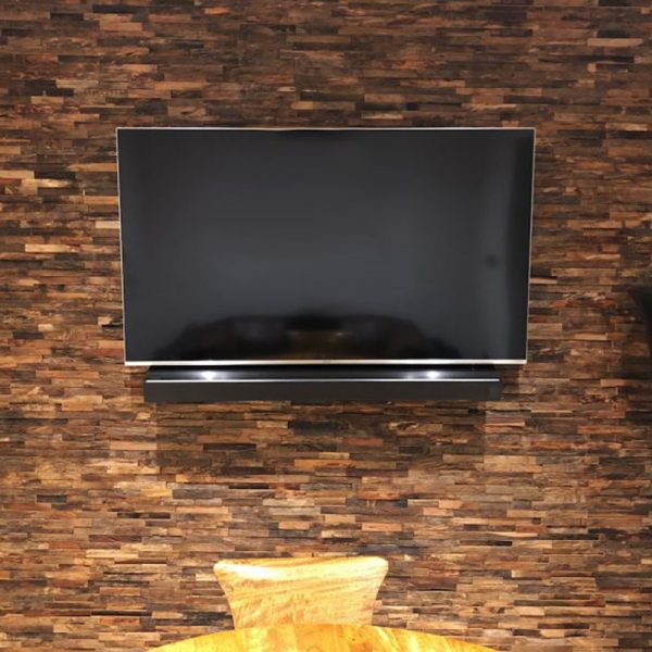 3D Spanish Brown Peel and Stick Planks