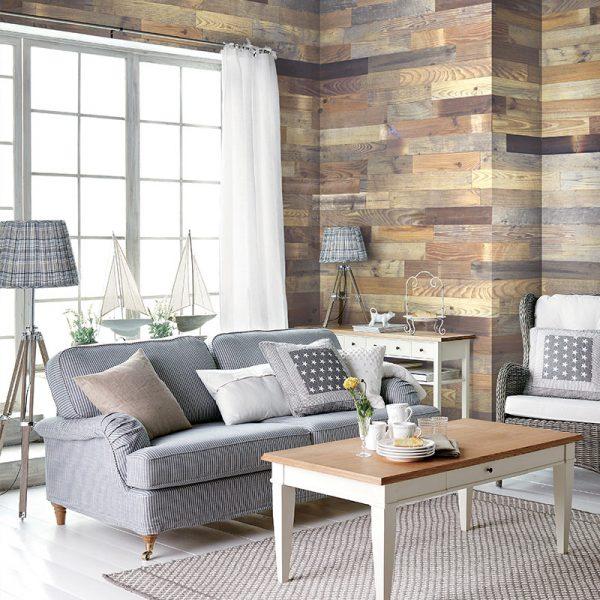 Reclaimed Rustic Brown - Peel & Stick Boards
