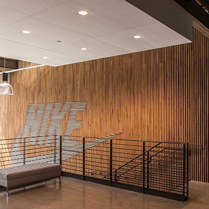 Nike Store Reclaimed Wood Wall